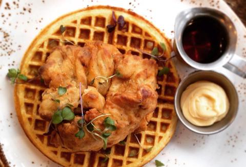Mortar and Pestle chicken and waffle chicago thrillist