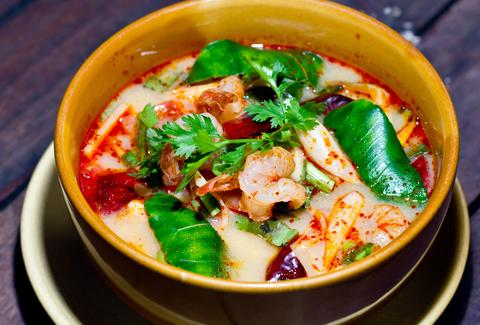 thai food soup close up