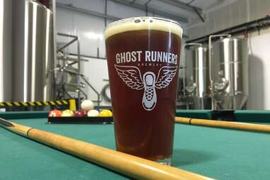 Ghost Runners Brewery pint