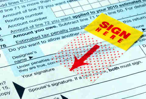 Signing tax forms