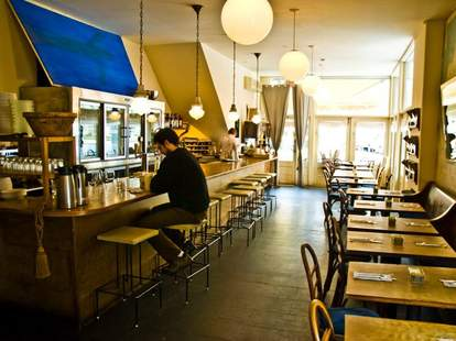 Marco & Pepe interior restaurant jersey city tables and bar thrillist