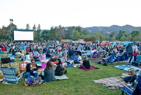 los angeles outdoor movies eat see hear