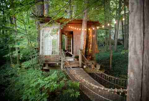 Treehouse in Atlanta via AirBnB