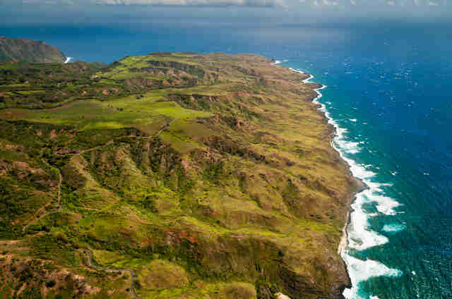 Aerial view of Molokai island