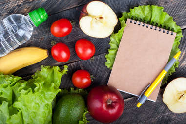 food planning meal journal healthy food