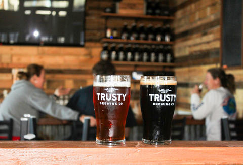 Beers at Trusty Brewing