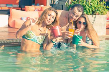 friends in pool miami