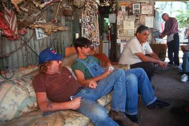 local men drinking beer