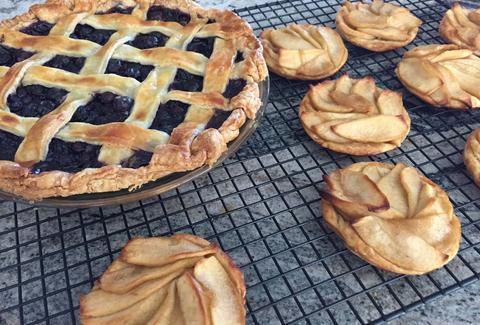 Pie Pie Pie blueberry and peach pies