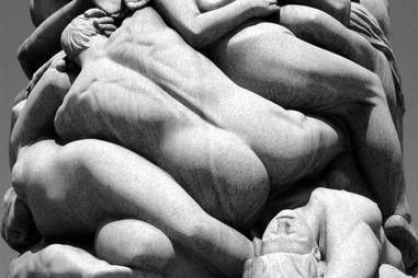 Marble statues in orgy