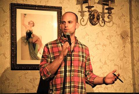 Gandhi, Is That You at Lucky Jack's stand up guy in plaid shirt nyc thrillist