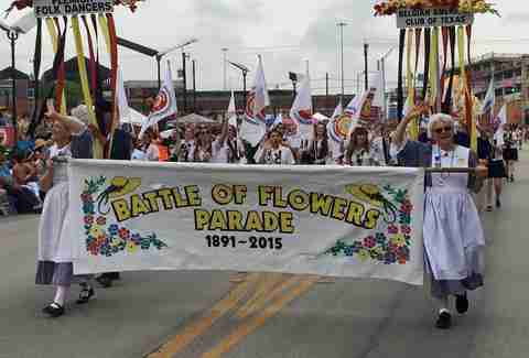 Battle of the Flowers parade