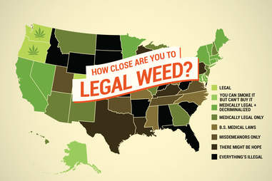 weed map of the US