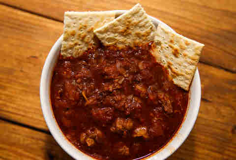 bowl of Texas chili
