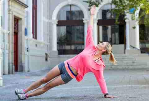 side plank woman exercise