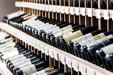 wine, wine rack, wine selection, liberty public market