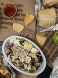 chipotle bowl, burrito, chips