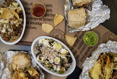 chipotle bowl, burrito, chips