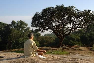 guy meditating