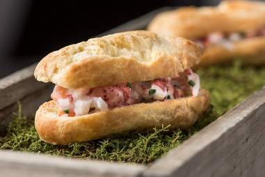 mini lobster rolls at Acadia