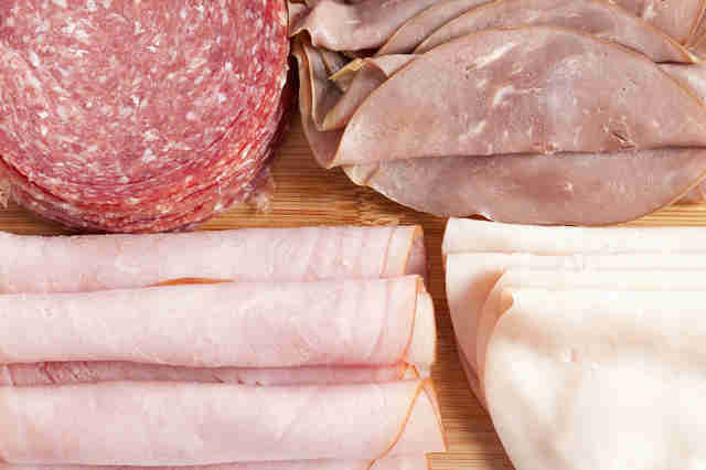 deli meat, sliced meat, assorted meat