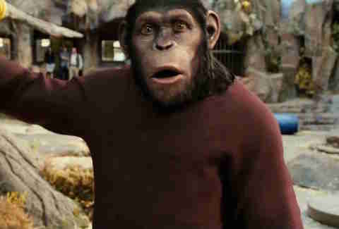 Rise of the Planet of the Apes, Caesar, CGI animals