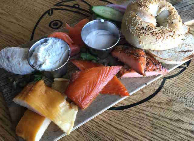 bagel and lox plate, ivy city smokehouse tavern