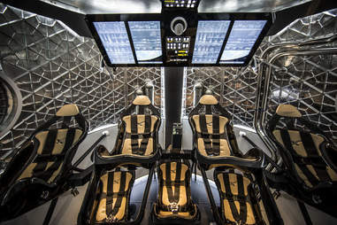 Interior of SpaceX Dragon