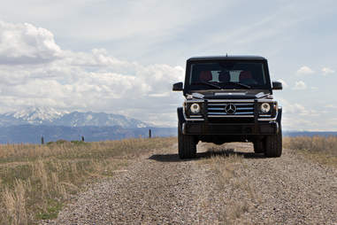 One simply does not get stuck in a G wagen...usually.