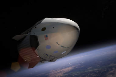 SpaceX Dragon in orbit