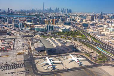 airport overhead shot