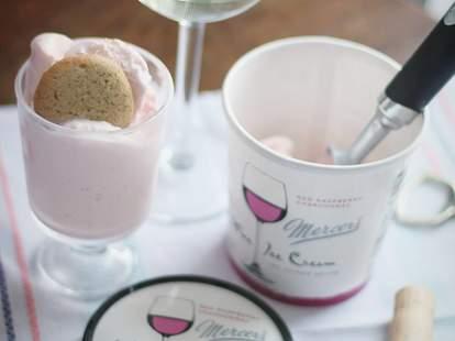 mercer wine ice cream scoop thrillist nyc