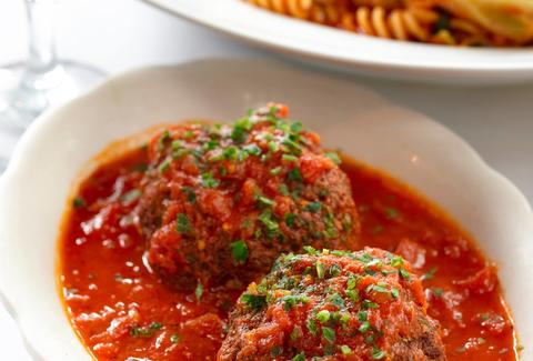 RAO'S 1896 meatballs new york thrillist pasta