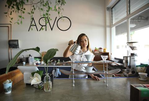 ARVO girl pouring drink honolulu thrillist