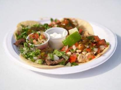 Taco Kabana Carne Asada and Pollo Asada tacos