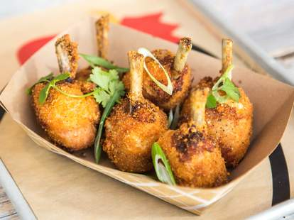 chicken lollipops at The Crack Shack