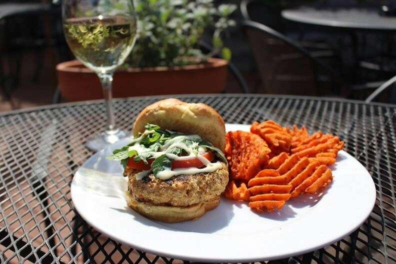 The Glenwood, shrimp burger