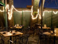 Seadog Sushi Bar outdoor patio chicago string lights thrillist