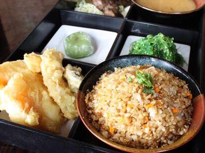 Seadog Sushi Bar bento box plate rice thrillist chicago