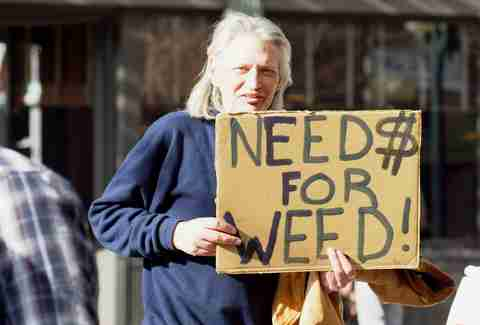 hobo need for weed sign seattle