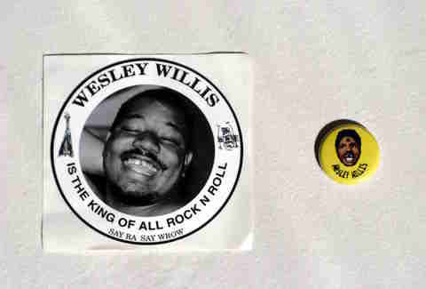 Wesley Willis sticker and button