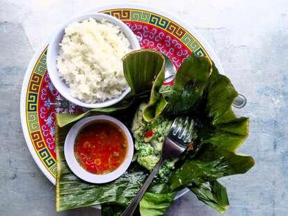 World Street Kitchen plate lettuce rice thrillist