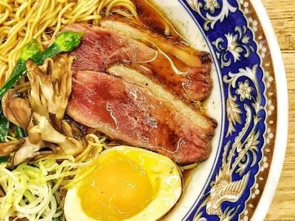 Zen Box Izakaya noodles soup egg steak thrillist