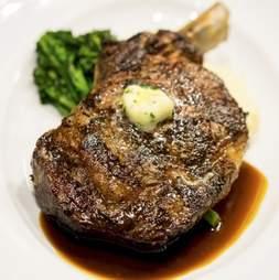 steak, buttered steak