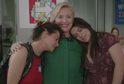 abbi and ilana hillary clinton broad city