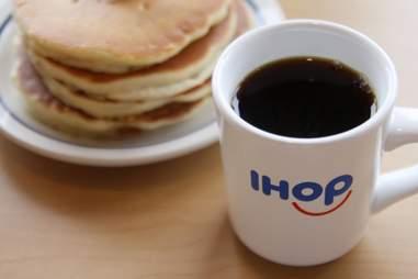 ihop coffee and pancakes