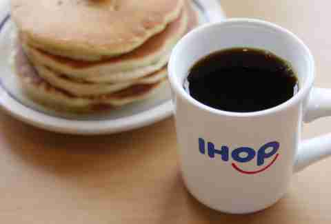 ihop coffee and pancakes