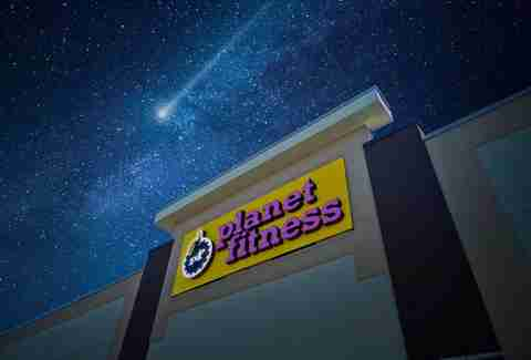 Planet Fitness at night