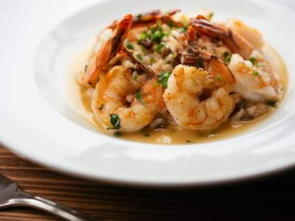 shrimp dish at Angeline