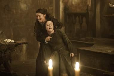 Joyeuse Erenford and Catlyn Stark Red Wedding HBO Game of Thrones